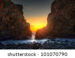 Pfeiffer Beach In Big Sur A...
