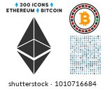 ethereum icon with 3 hundred... | Shutterstock .eps vector #1010716684