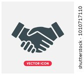 handshake vector icon...