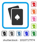 peaks playing cards icon. flat... | Shutterstock .eps vector #1010717974