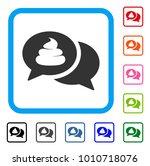 shit forum icon. flat grey... | Shutterstock .eps vector #1010718076