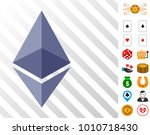 ethereum crystal icon with... | Shutterstock .eps vector #1010718430