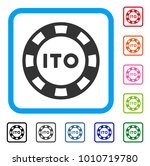 ito token icon. flat grey...