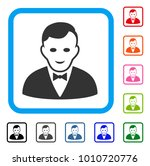 croupier manager icon. flat...
