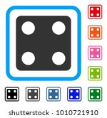 dice icon. flat gray pictogram...