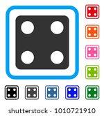 dice icon. flat gray pictogram...
