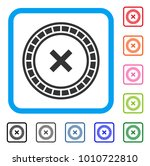 roulette icon. flat grey...