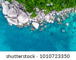 an aerial view of koh tao... | Shutterstock . vector #1010723350