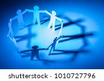 circle joining of paper figure... | Shutterstock . vector #1010727796
