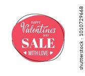 vector valentines day sale... | Shutterstock .eps vector #1010729668