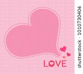 pink hearts background of love... | Shutterstock .eps vector #1010730406