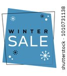 geometric winter sale sign.... | Shutterstock .eps vector #1010731138