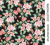 floral pattern in vector | Shutterstock .eps vector #1010744398