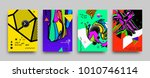 covers templates set with... | Shutterstock .eps vector #1010746114