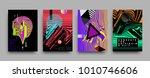 covers templates set with... | Shutterstock .eps vector #1010746606