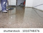 floor polisher working man | Shutterstock . vector #1010748376
