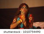 kathakali artists performance...   Shutterstock . vector #1010754490