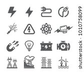 electric icon set | Shutterstock .eps vector #1010758099