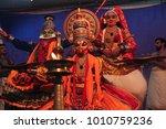 a kathakali performance in...   Shutterstock . vector #1010759236