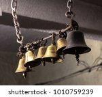 a shot of temple bells   Shutterstock . vector #1010759239