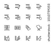 line icon set related of video...