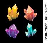 precious mineral  vector... | Shutterstock .eps vector #1010764894