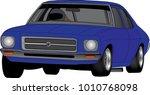 speedway racing car vector | Shutterstock .eps vector #1010768098