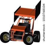 speedway racing car vector | Shutterstock .eps vector #1010768104