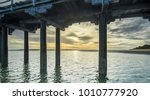 the iconic urangan pier early... | Shutterstock . vector #1010777920