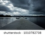 jetty  pier  vanishing point... | Shutterstock . vector #1010782738