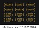 movie award best leading... | Shutterstock .eps vector #1010792344
