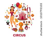 circus show performance... | Shutterstock .eps vector #1010793103