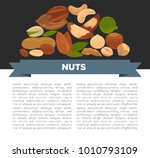 nuts organic nutrition and raw... | Shutterstock .eps vector #1010793109