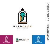 cute bird logo illustration... | Shutterstock .eps vector #1010793580