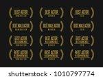 movie award best male actor...   Shutterstock .eps vector #1010797774