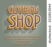 creative vector alphabet set.... | Shutterstock .eps vector #1010813044