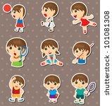 student sport stickers | Shutterstock .eps vector #101081308