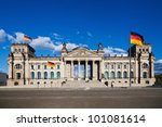 the German Reichstag building - stock photo