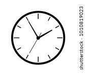clock illustration. vector. | Shutterstock .eps vector #1010819023