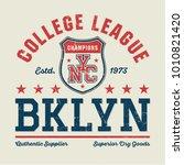 new york city college league  ...   Shutterstock .eps vector #1010821420