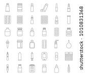 pharmacy item  such as medicine ... | Shutterstock .eps vector #1010831368