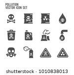 pollution poison vector icon....   Shutterstock .eps vector #1010838013