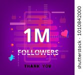 1m followers thank you template ... | Shutterstock .eps vector #1010842000