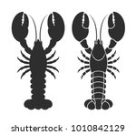Lobster Silhouette. Isolated...