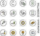 line vector icon set   dollar... | Shutterstock .eps vector #1010847766