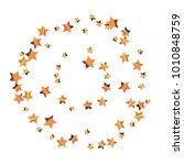 colorful star falling pattern.... | Shutterstock .eps vector #1010848759