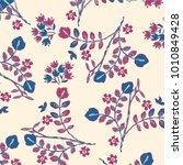 flower illustration pattern | Shutterstock .eps vector #1010849428