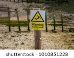 sign  warning sudden drop  seen ... | Shutterstock . vector #1010851228