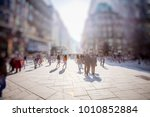 crowd of anonymous people... | Shutterstock . vector #1010852884