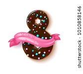 8 march happy women day...   Shutterstock .eps vector #1010858146